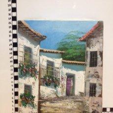 Arte: OLEO SOBRE LIENZO(CALLES PUEBLO). Lote 58284071