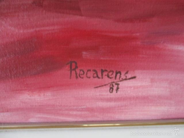 Arte: Cuadro de Bailarina de Balet pintado al oleo encima de una tabla de madera de Ramon Recarens - Foto 8 - 58348704