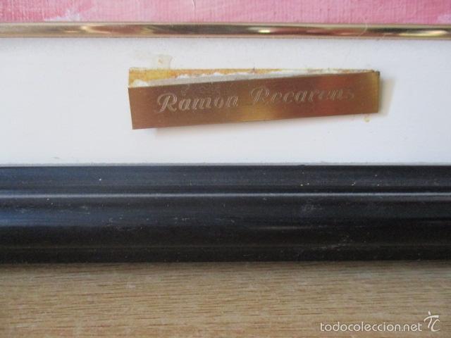 Arte: Cuadro de Bailarina de Balet pintado al oleo encima de una tabla de madera de Ramon Recarens - Foto 9 - 58348704