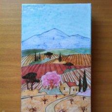 Arte: AZULEJO PINTADO Y ESMALTADO POR JEAN PAUL FURRASOLA ARTISTA FRANCES ..VID-VIÑAS-VINO. Lote 58358900
