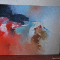 Arte: ÓLEO Y COLLAGE SOBRE LIENZO - ABSTRACTO - FIRMADO - AÑOS 70. Lote 58364800