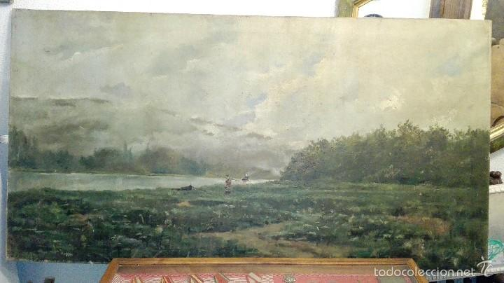 PAISAJE OLEO SOBRE LIENZO. ESCUELA FRANCESA DEL S XIX (Arte - Pintura - Pintura al Óleo Moderna siglo XIX)