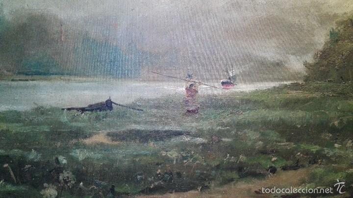 Arte: Paisaje Oleo sobre lienzo. Escuela francesa del S XIX - Foto 2 - 58366855