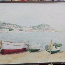 Arte: OLEO MARINA DE LA PINTORA GLORIA BONET. Lote 58369837