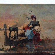 Arte: OLEO SOBRE LIENZO EN TABLERO FIRMADO MIRALLES F.F DEL SIGLO XIX - P.P DEL XX. Lote 58373912