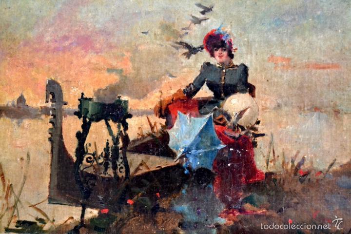 Arte: OLEO SOBRE LIENZO EN TABLERO FIRMADO MIRALLES F.F DEL SIGLO XIX - P.P DEL XX - Foto 2 - 58373912