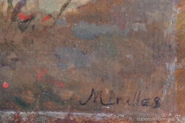 Arte: OLEO SOBRE LIENZO EN TABLERO FIRMADO MIRALLES F.F DEL SIGLO XIX - P.P DEL XX - Foto 3 - 58373912