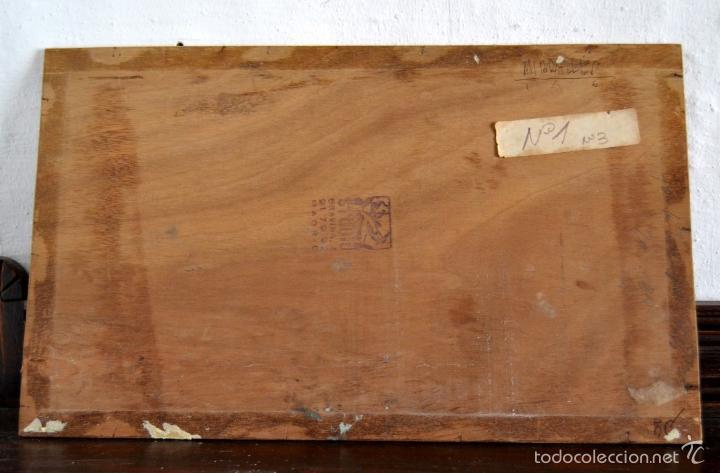 Arte: OLEO SOBRE LIENZO EN TABLERO FIRMADO MIRALLES F.F DEL SIGLO XIX - P.P DEL XX - Foto 6 - 58373912