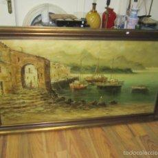 Arte: OLEO SOBRE LIENZO MARINA GRANDE, FIRMADO - MEDIDA 168 X 93 CM. BUENA PINTURA. Lote 58380181