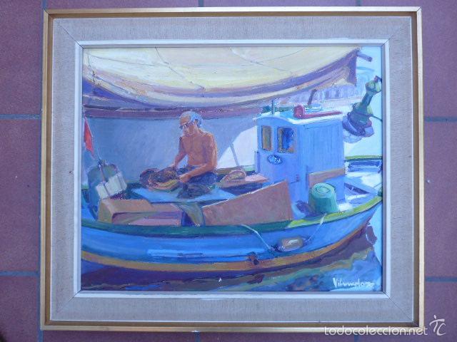 ÓLEO SOBRE TELA DE JAUME VILARUPLA ROLDOS(MATARO 1952)AÑO 1979 (Arte - Pintura - Pintura al Óleo Contemporánea )