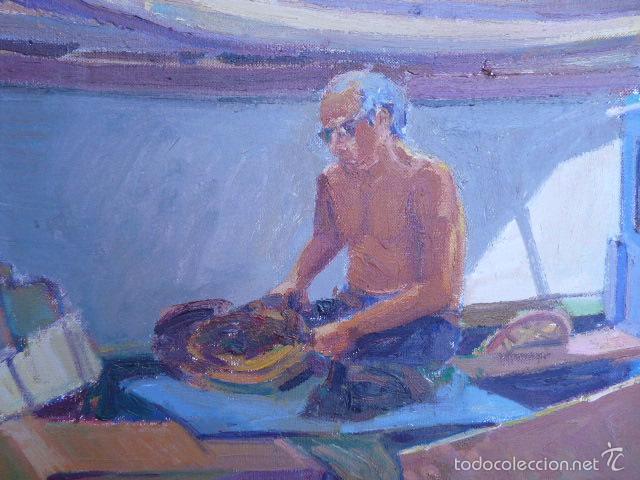 Arte: óleo sobre tela de jaume vilarupla roldos(mataro 1952)año 1979 - Foto 2 - 58385435