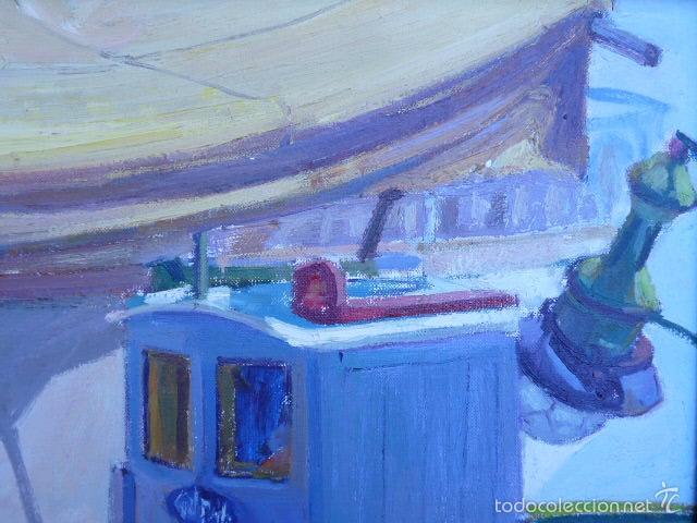 Arte: óleo sobre tela de jaume vilarupla roldos(mataro 1952)año 1979 - Foto 3 - 58385435