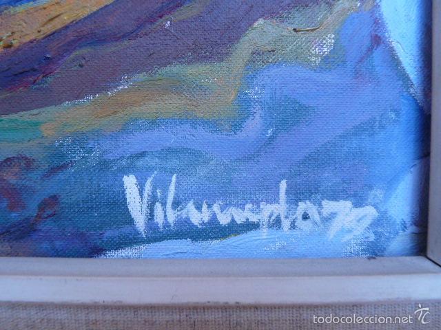 Arte: óleo sobre tela de jaume vilarupla roldos(mataro 1952)año 1979 - Foto 6 - 58385435