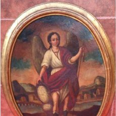 Arte: ÓLEO S/LIENZO SIGLO XVII CÍRCULO ANTONIO DEL CASTILLO. SAN RAFAEL. 72X57 CMS.. Lote 58462137