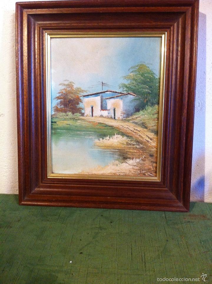 bonita pintura al oleo firmada y enmarcada - Comprar Pintura al Óleo ...