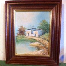 Arte: BONITA PINTURA AL OLEO FIRMADA Y ENMARCADA. Lote 58495652