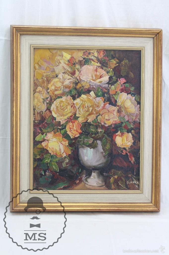 pintura al óleo sobre lienzo enmarcada - j. ser - Comprar Pintura al ...