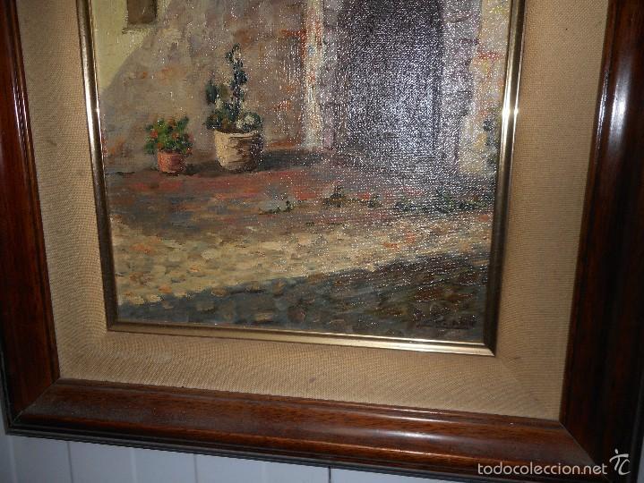 Arte: perfecto oleo firmado lozano sin golpes en la tela con su marco - Foto 3 - 58566584