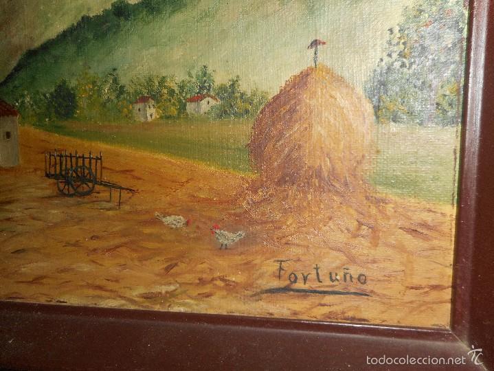 Arte: oleo firmado fortuño - Foto 2 - 58566752