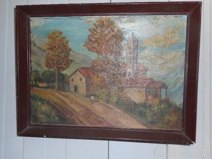 OLEO FIRMADO FORTUÑO SOBRE TABLA (Arte - Pintura - Pintura al Óleo Moderna sin fecha definida)