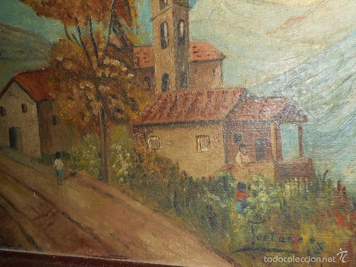 Arte: oleo firmado fortuño sobre tabla - Foto 2 - 58566783
