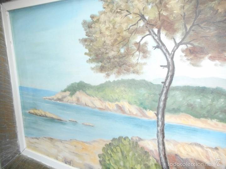Arte: oleo marina firmado C.Lopez buen estado - Foto 2 - 58567389