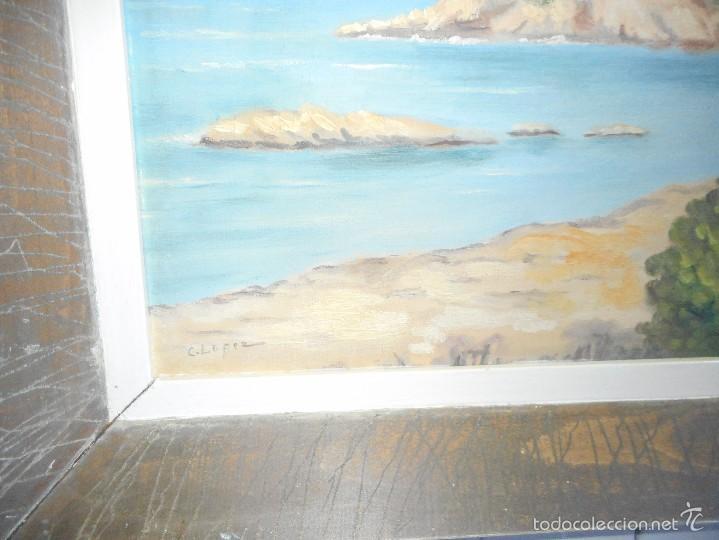 Arte: oleo marina firmado C.Lopez buen estado - Foto 3 - 58567389