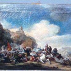 Arte: JACQUES COURTOIS (1621-1676) (ATRIBUIDO) PINTOR FRANCÉS - ÓLEO SOBRE TELA. Lote 58594752