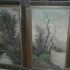 Arte: CARTELAS CATALANAS XIX ÓLEO SOBRE LIENZO FIRMADO. Lote 58614096