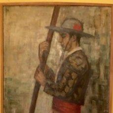 Arte: CUADRO OLEO PICADOR SOL DE ANDRES 1954 ALUMNA GUTIERREZ NAVAS 120X85. Lote 58619604