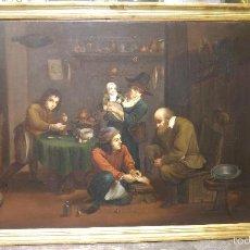 Arte: ANTIGUO CUADRO SIGLO XVIII-XIX TEMA MEDICAL, PODÓLOGO, POSIBLEMENTE FLAMENCO. Lote 58640627
