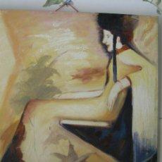 Arte: PRECIOSO OLEO EN BASTIDOR REPRESENTA UNA GHEISA.TAMAÑO GRANDECITO. AÑO 1980 APROX.. Lote 58642146