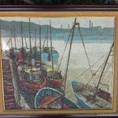 Arte - Paisaje puerto. J. De Miguel - 58680002