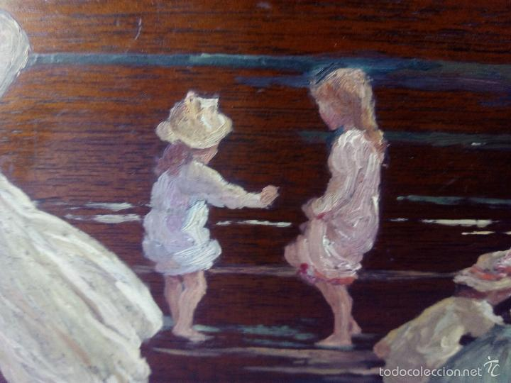 Arte: Pintura al Oleo Sobre Nogal - R.Jackson & Sons - Liverpool - Foto 5 - 30450663
