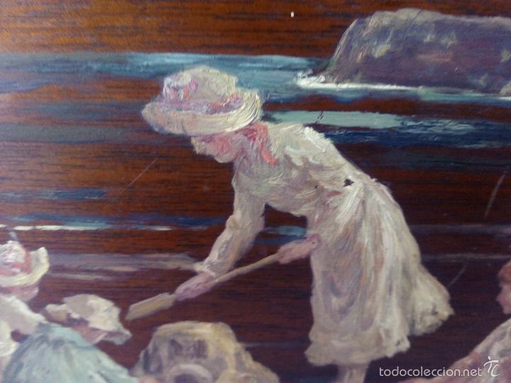 Arte: Pintura al Oleo Sobre Nogal - R.Jackson & Sons - Liverpool - Foto 7 - 30450663