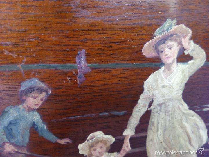 Arte: Pintura al Oleo Sobre Nogal - R.Jackson & Sons - Liverpool - Foto 9 - 30450663