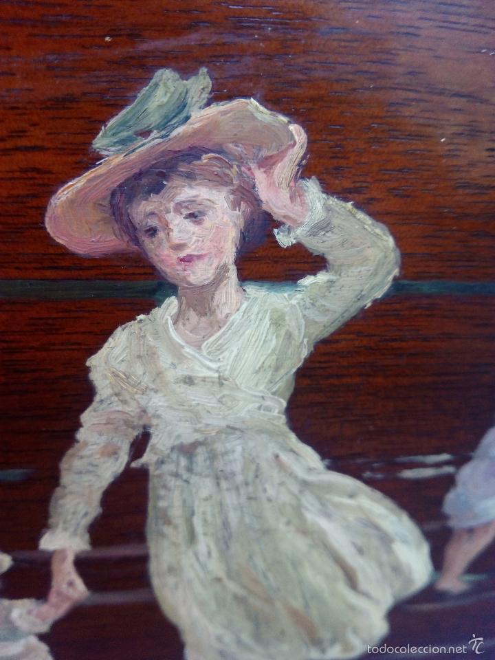 Arte: Pintura al Oleo Sobre Nogal - R.Jackson & Sons - Liverpool - Foto 10 - 30450663