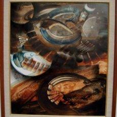 Arte: ANDRES MONTANI 1918 URUGUAY OBRA T/MIXTA /MADERA 70X60 CM EXPOSICION GALERIA JORGE ONTIVEROS. Lote 59509251