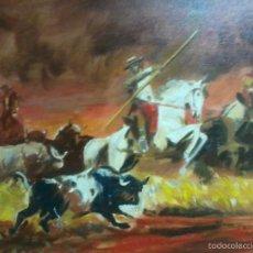 Arte: TOROS CON MAYORAL. MARCO NUEVO. ELIGE A TU GUSTO.. Lote 58539564