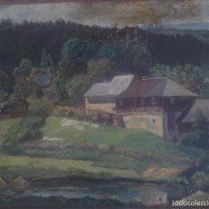Arte: PAISAJE ORIGINAL 1936 ÓLEO SOBRE TABLA IBIZA AÑOS 30 PINTOR MEDITERRÁNEO?. Lote 59627519