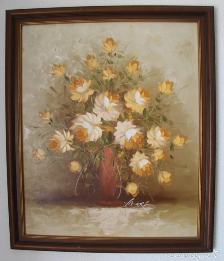 magnifici oleo sobre lienzo motivos flores -70 - Comprar Pintura al ...