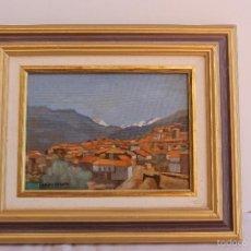 Arte: OLEO SOBRE TABLEX DE ANGEL ARIAS CRESPO. Lote 59764716