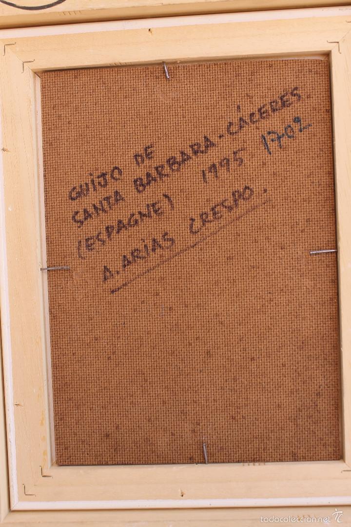 Arte: OLEO SOBRE TABLEX DE ANGEL ARIAS CRESPO - Foto 5 - 59764716