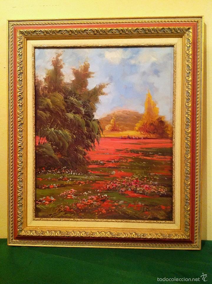 CUADRO ÓLEO PAISAJE DEL PINTO JOSÉ MIRET ALEU (Arte - Pintura - Pintura al Óleo Contemporánea )