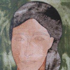 Arte: RAMÓN HERREROS. TÉCNICA MIXTA SOBRE PAPEL GUARRO. FIRMADO Y FECHADO EN 1999. Lote 60066967