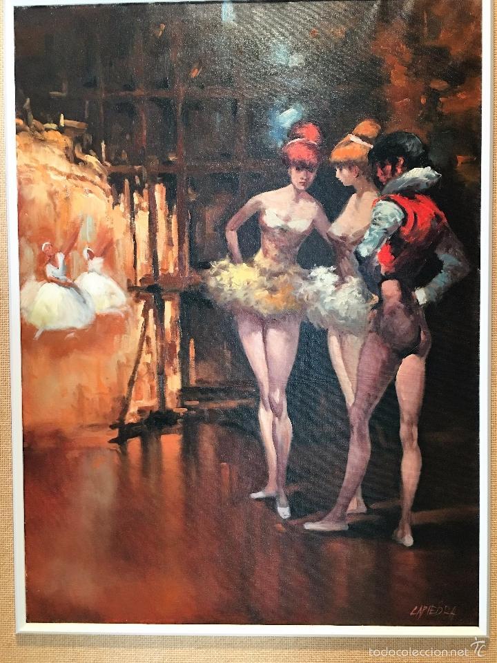 Arte: oleo sobre lienzo BAILARINAS EN DESCANSO - Foto 2 - 57753726