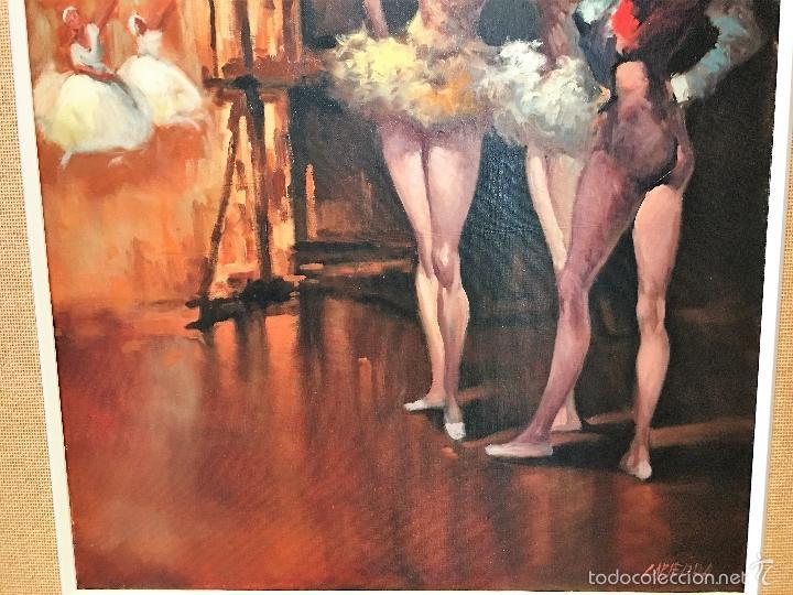 Arte: oleo sobre lienzo BAILARINAS EN DESCANSO - Foto 3 - 57753726