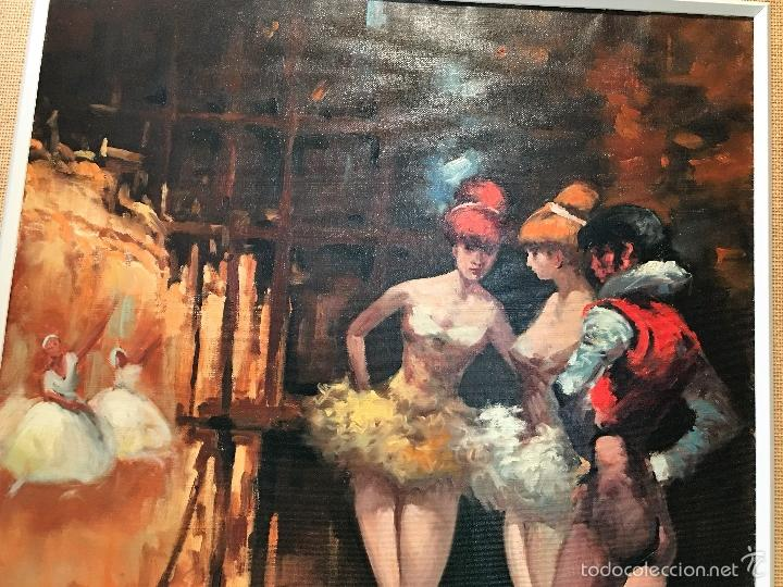 Arte: oleo sobre lienzo BAILARINAS EN DESCANSO - Foto 4 - 57753726