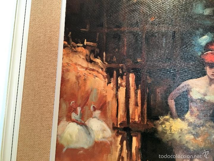 Arte: oleo sobre lienzo BAILARINAS EN DESCANSO - Foto 5 - 57753726