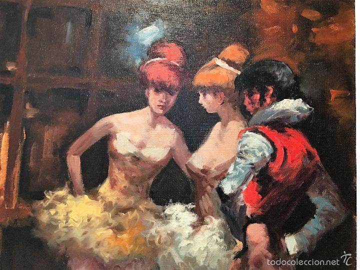 Arte: oleo sobre lienzo BAILARINAS EN DESCANSO - Foto 6 - 57753726
